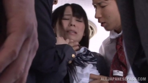 PuSeJa An Orgy Breaks Out On A Bus With Schoolgirl Mana Kanase