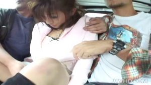 jav ho outdoor blowjobs in a car with miina minamoto and two guys