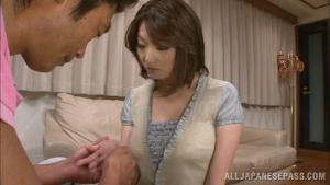 Busty japanese mom Mio Takahashi enjoys young cock