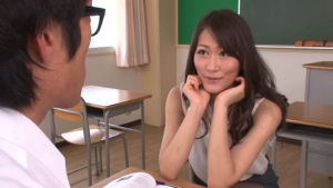 Sexy teacher Miku Aoki sexy pantyhose action here