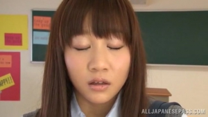 080 JScGi Schoolgirl Yuri Shinomiya Sucks And Fucks While In Class