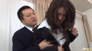 Voyeur fan gets hot with action sexy teacher Haruka Sanada