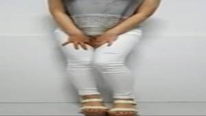 White jeans wetting