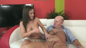Young brunette wet pussy is pussy eaten by her teacher who thinks that  'kiss