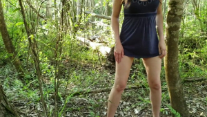 A little Stream in the Woods panty Pissing in Nature