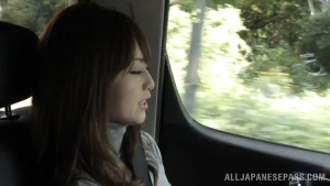 Akiho Yoshizawa horny Asian milf enjoys some kinky car sex at  h