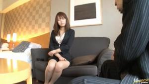 Beautiful Asian secretary is sexy at  h