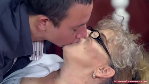Excited breasty granny likes hardcore doggy style fuck sex c