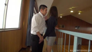 Explosive cumshot for charming sweetheart Mizuho Uehara at tr  abp mizuho uehara kinky japanese female teacher h
