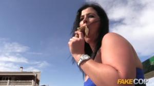 Fake Cop New Cop in Town Fucks Spanish Slut in Her ArseFr