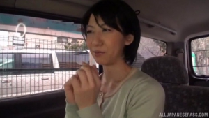 Fiery JApanese AV model fucked hard with a dildo in the back of a car at milf  ult japanese hot sex in car h