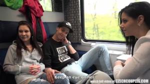 Foursome Sex in Public Train Free You Sex Tube HD Porn a f