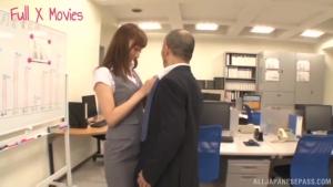 Horny stud loves Fuyutsuki Kaede wet hairy pussy at office  abp fuyutsuki kaede kinky japanese milf sex h