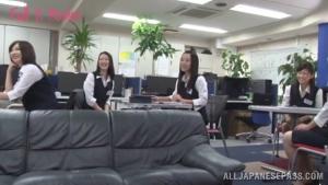 Hot milf is a horny Japanese AV model showing off in public sex at office  tmrd hot office sex h