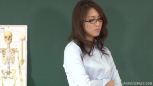 Jun Harada Japanese teacher enjoys after school masturbation at  dv Jun Harada Ill Tell The Teacher Jun h