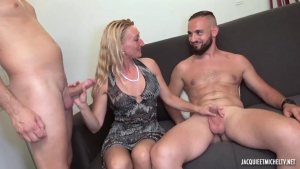 Mature blonde woman Betty is getting doublefucked in a hotel room in the late afternoon fullxmovies com