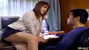 Michiru Tamaki Cute Asian chick gives a blowjob at  h