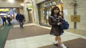 Mikan Lovely Asian schoolgirl is an exhibitionist at  h
