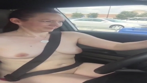 Naked driving to get my weekly grocery aFlashyWife SharedWife Exhibitionism UndressedWife
