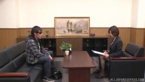 Naughty Asian babe Akari Asahina in office suit is fingered at office  dv akari asahina office sex h