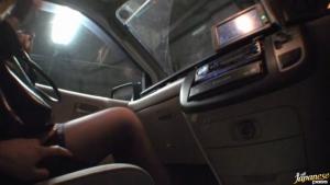 Rinka Kiriyama In Stockings Give A Blowjob In A Car at  h