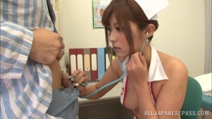Satou Haruka wild Asian nurse in group action at  h