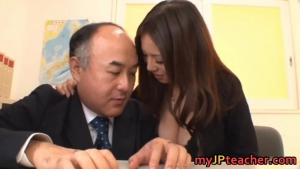 Video japanese busty teacher ruri saijo bounces part