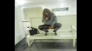 Young German Girl Pissing in a Subway in Rush Hour Porn 72 f