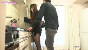 Yui Hatano I Like the Way Ladies Look in Suits and After Getting a Boner From Seeing This Woman With Her Black Stockings and Panties I Rubbed My Cock Against Her Ass JAV