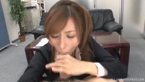 Charming broad Akari Asahina sucks pole lustly at tr  dv akari asahina sweet girl amazing sex h