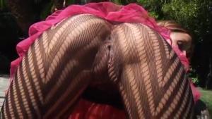 Melanie Rios en bas collant