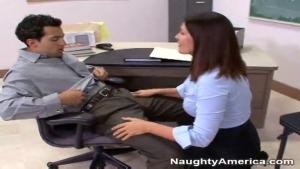 My hand slipped under my teacher s skirt Naughty America My First Sex Teacher