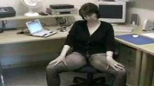 Secrétaire salope au bureau