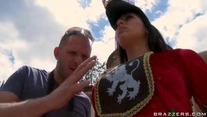 Royal Guard Has A Pair Of Big Boobs As She Wears Uniform
