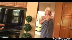 Massage HOT avec une jolie blonde