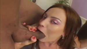 Two black cocks for a nice hot brunette