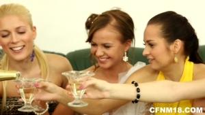 Deux stripteaseurs pour cette femme mariée et ses copines