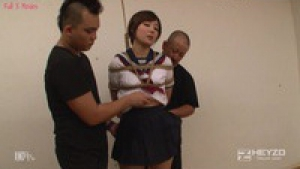 Japanese girl bounded and pounded by two guys