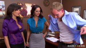 Lisa ann ava addams ogling in the office