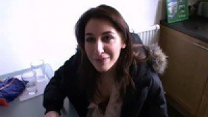 Julia, horny french student on threesome
