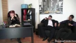 A Business Lady Hires and Humps Bodyguards Elena Chopinova