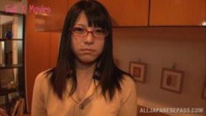Ai Uehara amazing Asian teen in glasses squirts